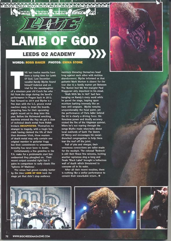 Lamb Of God Big Cheese 1