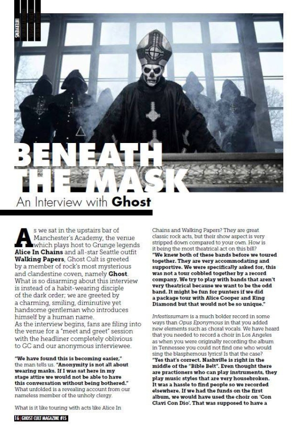 Ghost interview