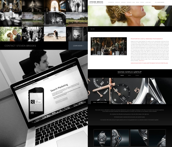 Content I have composed for the Swiss Watch Company and Steven Brooks Wedding photographer.
