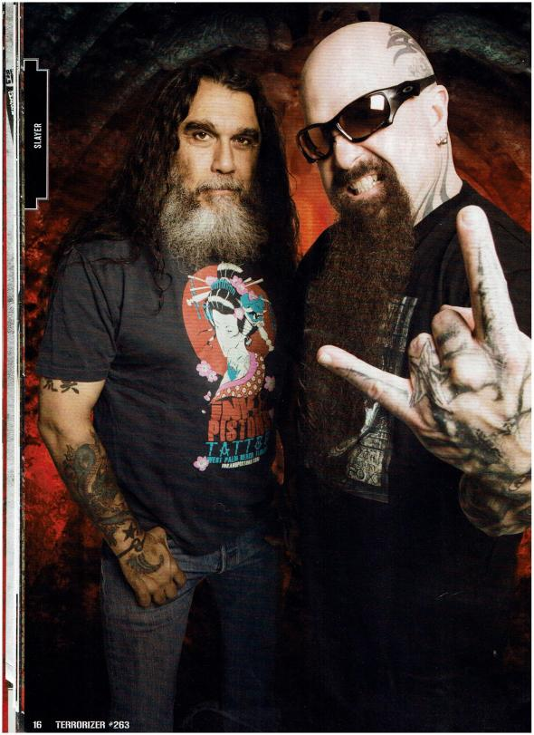 My interview with Tom Araya and Kerry King of Slayer!