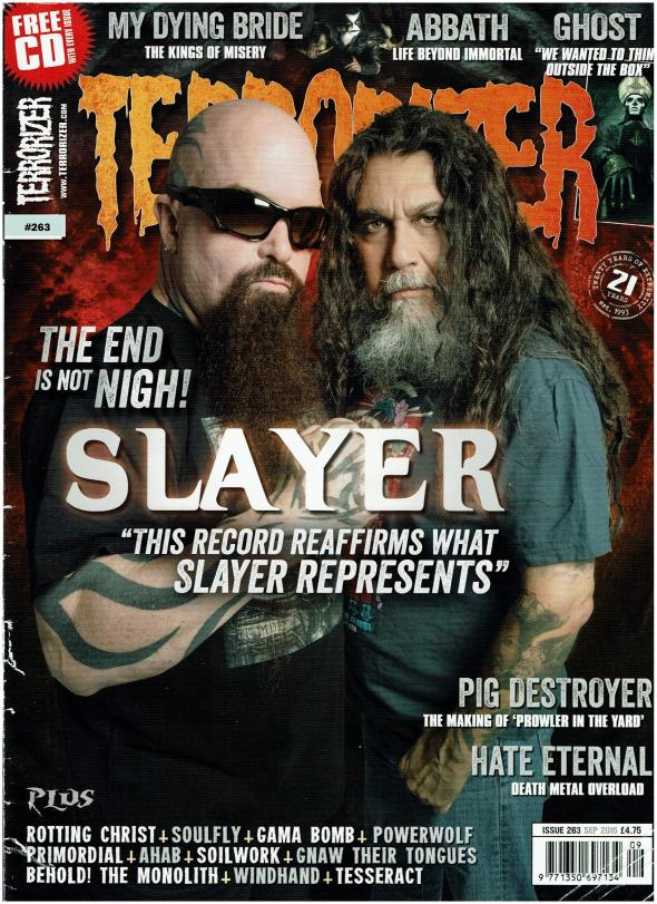My first cover feature for Terrorizer Magazine on Thrash legends Slayer!